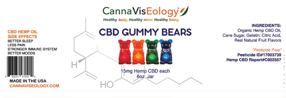 Gummy Bears 6 oz label